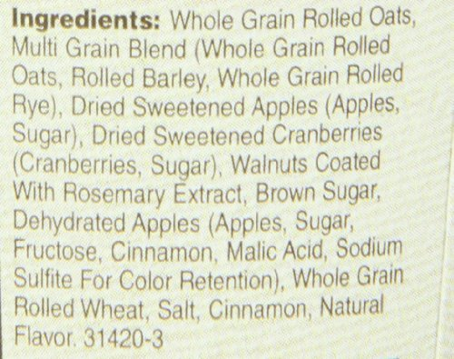 030000315507 - Quaker Real Medleys Oatmeal+, Apple Walnut, Instant Oatmeal+ Breakfast Cereal, (Pack of 12) carousel main 3