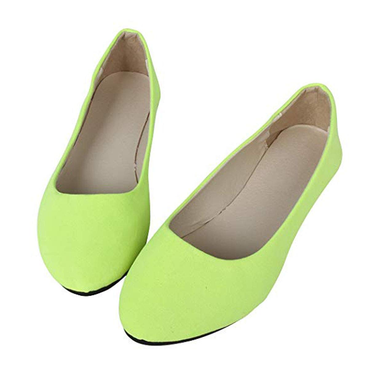 DeerYou Womens Suede Ballet Flats Pointy Toe Classic Loafers Solid Comfort Dress Walking Shoes