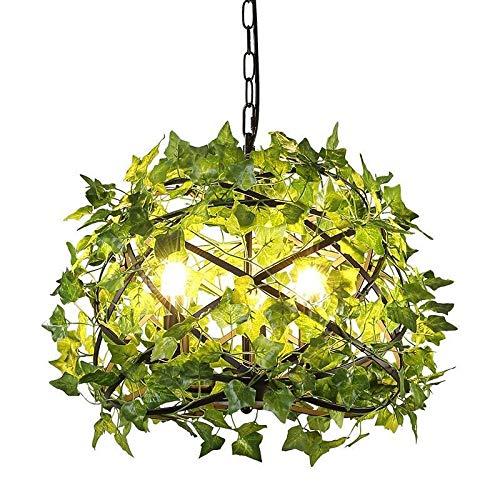 Light-S LEDの据え付け品の黒の人格のシャンデリアが付いている環境の緑の吊り下げ式ライト産業風の吊り下げ式ライトアイアン   B07TSDLQBS