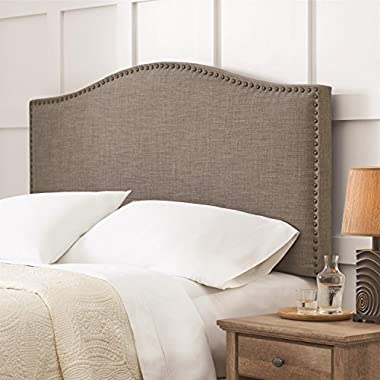 Better Homes and Gardens Grayson Linen Full/queen Headboard with Nailheads, Multiple Colors