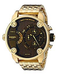 Diesel Men's DZ7347 Little Daddy Analog Display Analog Quartz Gold Watch