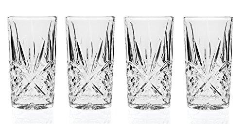 Godinger Silver Art Dublin Collection 11 Oz. Leaded Crystal Highball Glasses, Set of 6