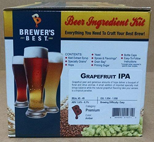 Brewer's Best Home Brew Beer Ingredient Kit - 5 Gallon (Grapefruit IPA) (Ipa Beer Ingredients compare prices)