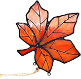 HAOSUM Maple Leaf Stained Glass Suncatcher Fall