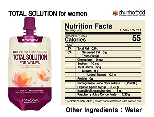 (Special Promotion) Chunho Food Total Solution for Women Menopause Liquid Supplement. Prepare & Maintain Healthy Lifestyle for Middle-Aged Women. No Preservatives and Artificial Additives