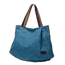 Myosotis510 Women's Oversized Cotton Canvas Weekender Bag