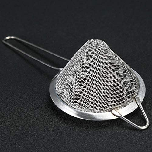 OHOME 1 PC Ice Cocktail Shaker Stainless Steel Drink Strainer Fine Mesh Cocktail Strainer Colander Professional Bartender Tool