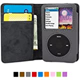 Snugg™ iPod Classic Flip Case & Lifetime Guarantee (Gray Leather) for iPod Classic