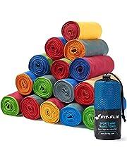 Fit-Flip Mikrofaser Handtuch Set – 16 Farben, viele Größen – Ultra leicht, kompakt, schnelltrocknend – Microfaser Handtücher – das perfekte Sporthandtuch, Strandhandtuch und Reisehandtuch