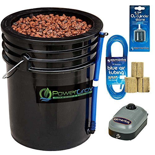(Deep Water Culture (DWC) Hydroponic Bucket Kit 5 Gallon, 10 inch)