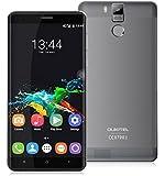 OUKITEL K6000 Pro - 5,5 Zoll FHD Android 6.0 4G Smartphone 3GB RAM 32GB Octa Kern 6000mAh Batterie spritzfest staubdicht Schnellladung 16MP - Grau