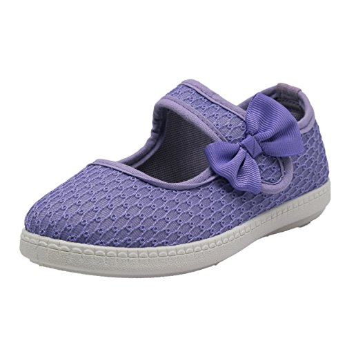 Club Canvas Girls Little Kid 827 Light Weight Mary Jane Shoess 2 M US Toddler, Purple - Mary Jane Canvas Sneakers
