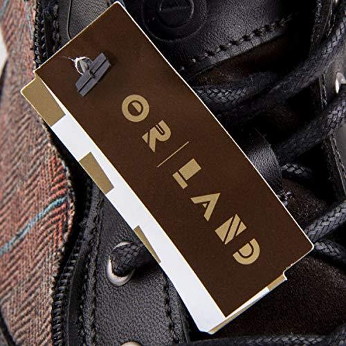 Orlando Boots con nero pelle laterale cerniera in Uomo 42 rA4Oxnr