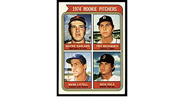 1974 Topps #596 Fred Holdsworth Mark Littell Dick Pole Wayne Garland Rookie Card