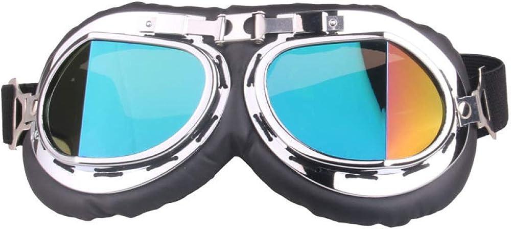 SPXMX Gafas retro en ángulo para moto off-road gafas parabrisas s
