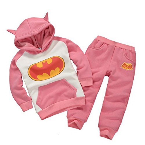 Getuback Baby Batman Clothing Sets Children Spring Tracksuits 18M Pink