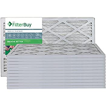 filterbuy 14x20x1 merv 13 pleated ac furnace air filter. Black Bedroom Furniture Sets. Home Design Ideas
