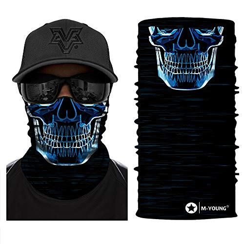 M-YOUNG 3D Face Sun Mask, Neck Gaiter, Headwear, Magic Scarf, Balaclava, Bandana, Headband for Fishing, Hunting, Yard Work,Motorcycling,Skiing,Hiking and UV Sun Dust Wind Protection (HR040735)
