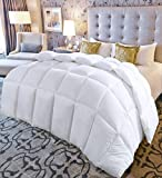 Utopia Bedding King Comforter Duvet Insert White - Quilted Comforter with Corner Tabs - Hypoallergenic, Plush Siliconized Fiberfill, Box Stitched Down Alternative Comforter by