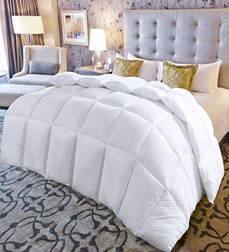 Utopia Bedding King Comforter Duvet Insert White - Quilted Comforter utilizing Corner Tabs - Hypoallergenic, Plush Siliconized Fiberfill, Box Stitched down substitute Comforter by