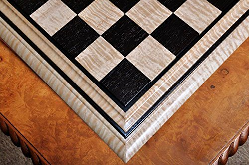 The House of Staunton Signature Contemporary II Chess Board - Curly Maple/African Palisander - 2.5