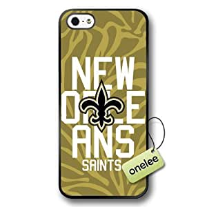 NFL New Orleans Saints Team Logo Case For Samsung Galaxy S5 Cover Black Hard(PC) Soft Case CovBlack