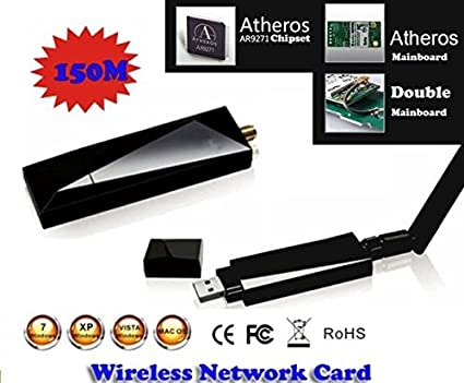 ANTENA ADAPTADOR INALAMBRICO USB WiFi Alfa 630mw AWUS036NHA ATHEROS AR9271 WI-FI