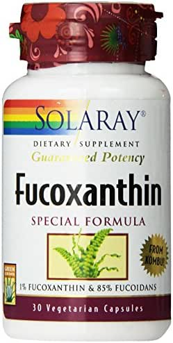 Solaray Fucoxanthin Special Formula Vegetarian Capsules, 400 mg, 30 Count