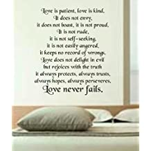 Love is Patient Love is Kind wall decal sticker vinyl beautiful quote words