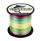 HERCULES Super Strong 500M 547 Yards Braided Fishing Line 8 LB Test for Saltwater Freshwater PE Braid Fish Lines 4 Strands – Multicolor, 8LB (3.6KG), 0.10MM For Sale
