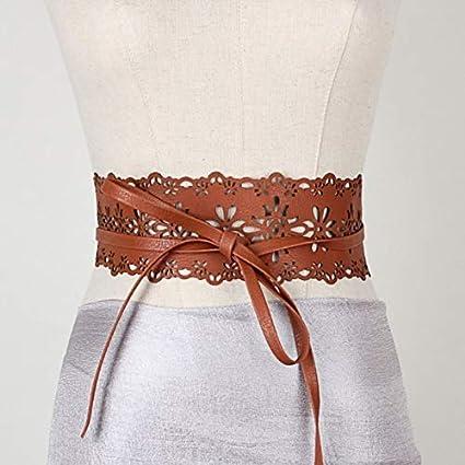3de553f317cc Amazon.com: Lannmart Novelty Vintage Women's Lace Wide Belt Stretchy ...