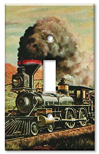 (Single Gang Toggle Wall Plate - Train)