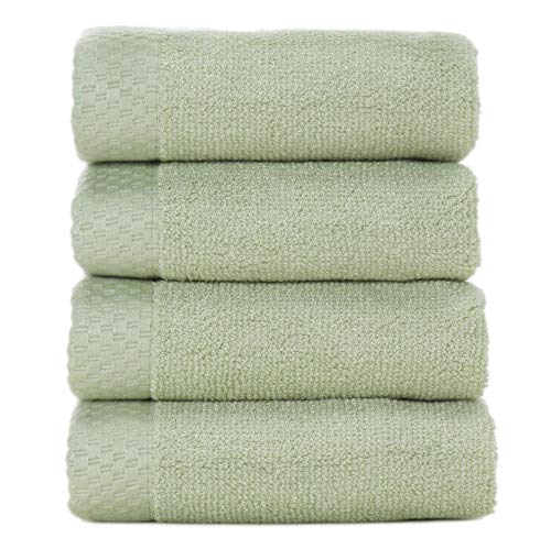 BedVoyage Eco Resort Towel Collection Washcloth (4 Pack), - Collection Resort Washcloth