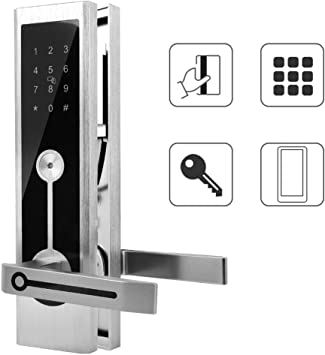 intelligente Anti Diebstahl Touchscreen Tastatur Digital Password Gate Entry System f/ür Office Home Rosvola Fingerabdruck T/ürschloss