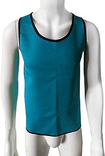 Delicacydex Uomo Body Shaped Vest Body Shaper Tuning Pancia Vita Trainer Corsetto Top Confortevole Biancheria Intima Vestiti Shapewear - Blu 3XL
