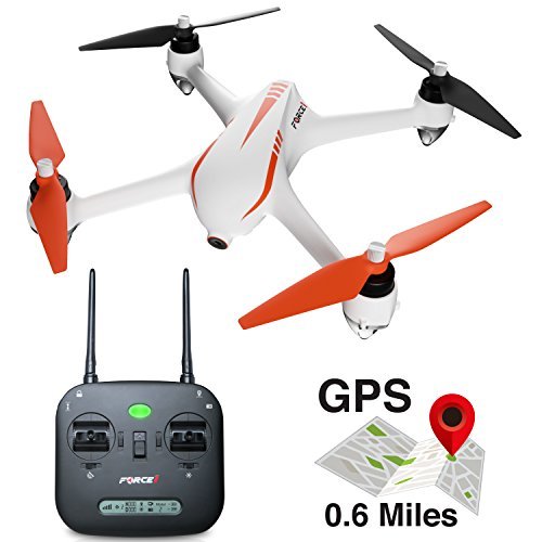 Force1 Drones with Camera - MJX B2C Bugs 2 Specter 1080p Brushless GPS Drone with Camera + 2 RC Drone Batteries and Extra Camera Drone Propellers