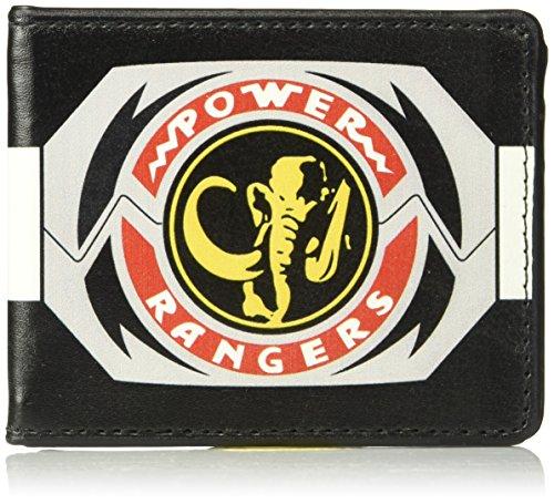 Mighty Morphin Power Rangers Ninja Costume (Buckle-Down Men's Wallet Power Rangers Black Ranger Mastadon Morpher Accessory, -Multi, One Size)