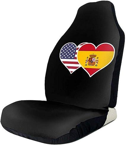 Amazon.es: Bandera de España Americana Corazón Asiento de Coche ...