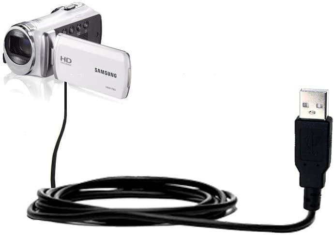Gomadic Classic Straight USB Cable Suitable for The Samsung HMX F80 F90 with Power Hot Sync and Charge Capabilities Uses TipExchange Technology
