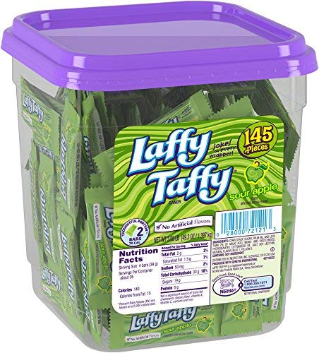Laffy Taffy Candy Jar, Sour Apple, 145 Count by Laffy Taffy