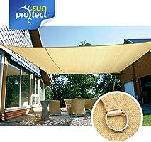 toldos vela baratos Sunprotect 83230 Professional Toldo Vela De Sombra 6 X 4 M Rectangular Beige