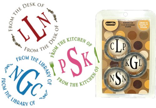 JustRite Borders for C-45 Monogram Stamper - From the Library of - From the Desk of - From the Kitchen of