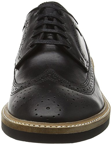 Frank Wright Mens Haig Oxford Scarpe In Pelle Nera