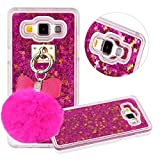 3 d phone cases galaxy s3 - Galaxy S3 Case, QKKE [Puffer Ball] 3D Glitter Bling Hearts Flowing Liquid Star Clear Hard Case for Samsung Galaxy S3 I9300 (Hourglass/Rose)