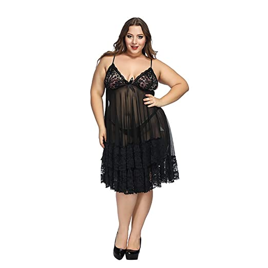 f952194bf3f Amazon.com  Plus Size Clearance Sexy Lingerie Plus Size Babydoll Set ...