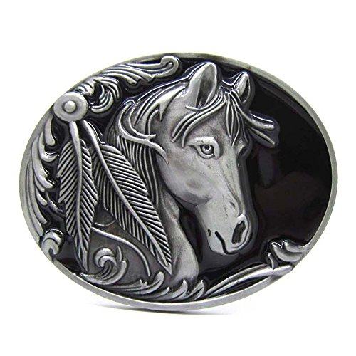 PANCY Horse Head Cowgirl Rodeo Western Cowboy Novelty Belt Buckles for Men