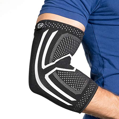 Elbow Brace Compression Sleeve - Instant Support, Protection & Pain Relief for Tendonitis, Tennis Elbow, Golfers Elbow, Arthritis, Bursitis, Lifting & All Sports. Ideal for Injury Rehab (Medium)