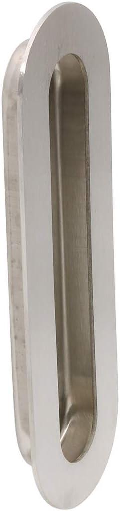Tiradores de puerta empotrables 120 tiradores ocultos de acero inoxidable satinado cepillado MC003 120mm*40mm plata LONTAN de acero inoxidable para puerta empotrada