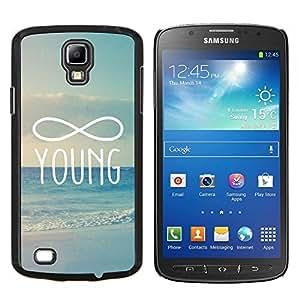 Infinity Matemáticas Young Forever- Metal de aluminio y de plástico duro Caja del teléfono - Negro - Samsung i9295 Galaxy S4 Active / i537 (NOT S4)