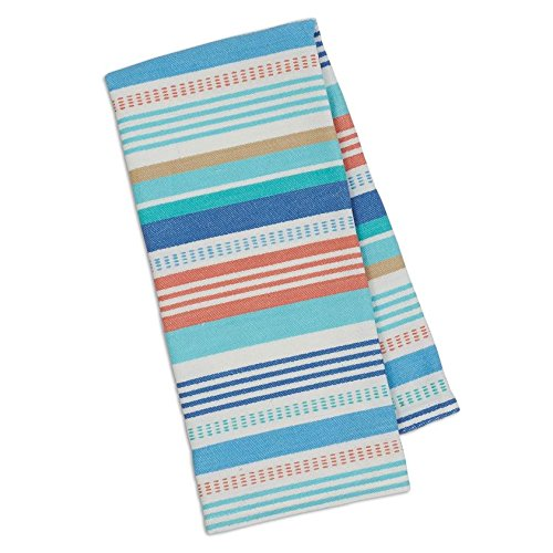 Design Imports 100% Cotton Seashore Striped Dishtowels - Set of 3 by Design Imports
